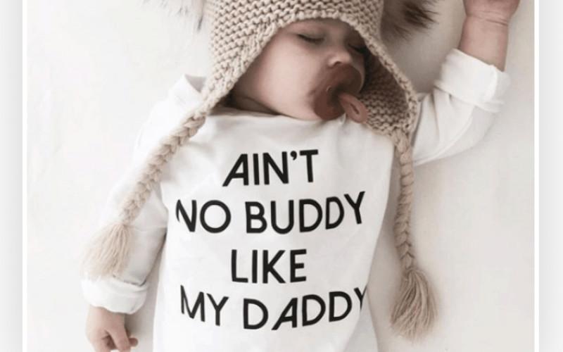 Baby shirtje met leuke tekst#vaderdag
