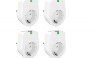 4x Lunvon SMART WLAN stopcontacten (3000W)