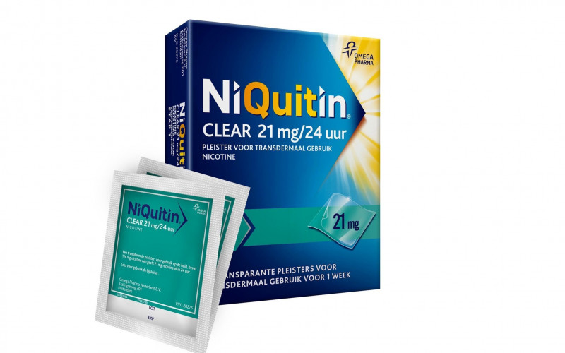 NiQuitin Clear Pleister Stap 1 - Nicotinepleisters - 21 mg - 14 stuks