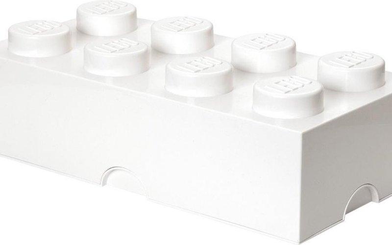 LEGO Brick 8 Opbergbox   12L   Kunststof   Wit