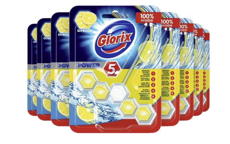 Glorix Wc Blok Power - 9x - Voordeelverpakking Citroen
