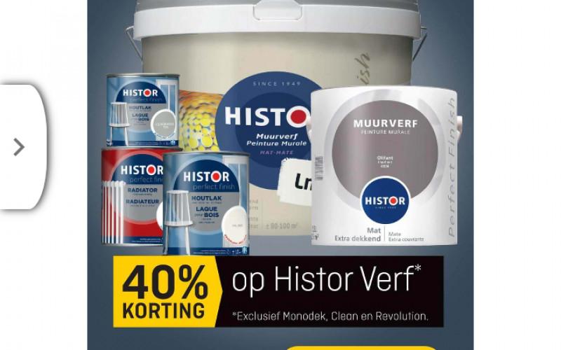 40% korting op Histor verf