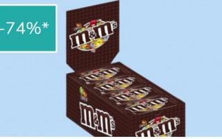 Doos van 24 zakjes M&M's  €12,95 + €5,95 verzending