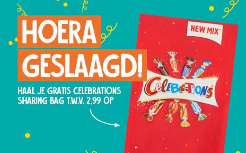 Geslaagd? Gratis Celebrations Sharing Bag t.w.v. € 2,99