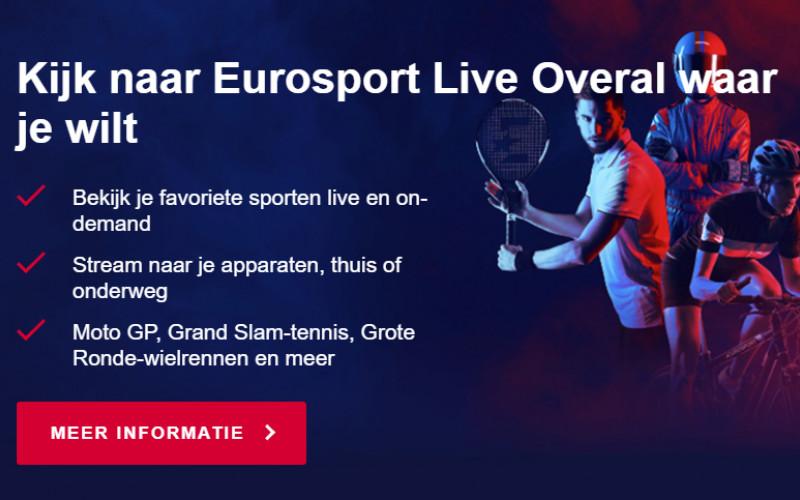 Jaarabonnement Eurosport Player €19,99 ipv €39,99!