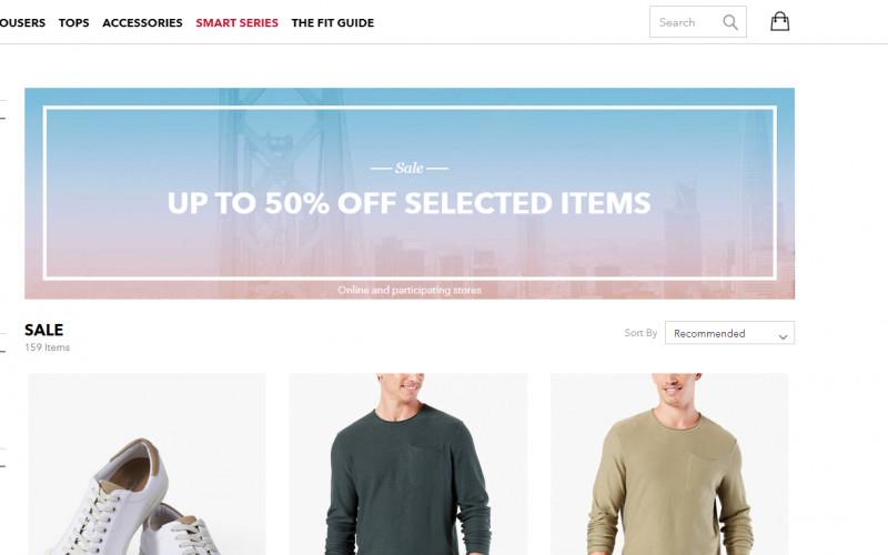 Sale bij Dockers - chino's, sneakers, shirts & sweaters