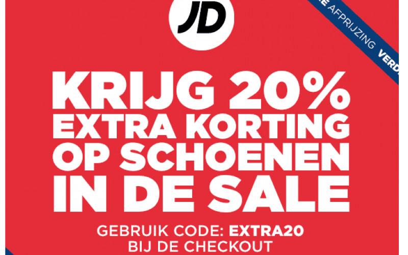 20% extra korting op Sale tot 75 % bij JD sports | needle