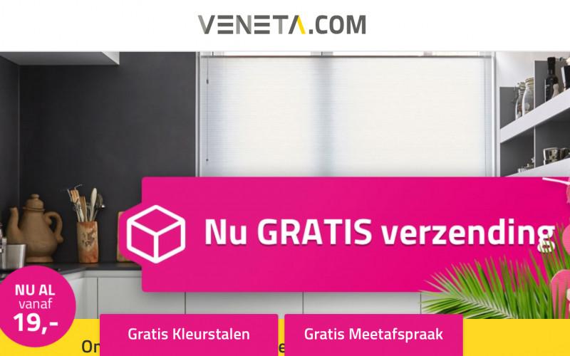 8% korting + gratis verzending bij raamdecoratie