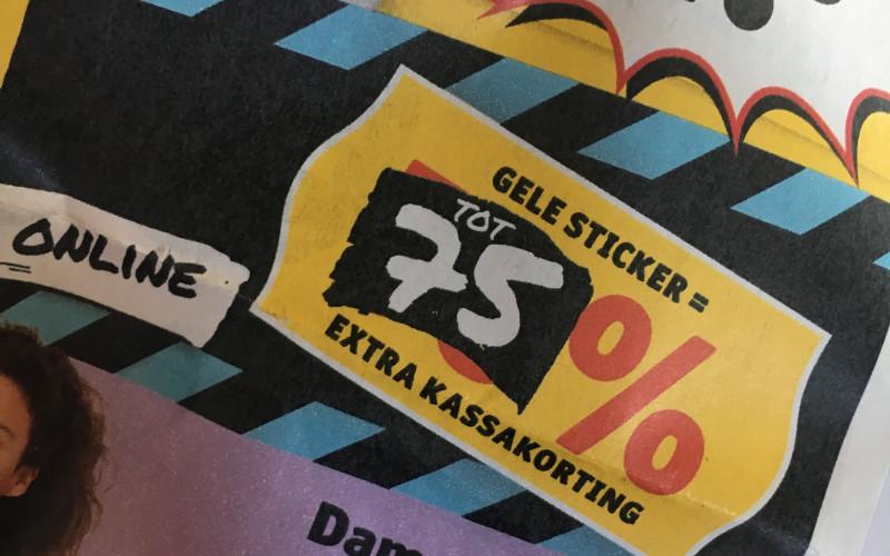 OP=OP 75% KORTING op kleding in winkel & online