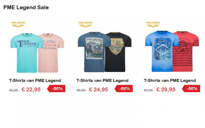 PME Legend T-Shirts vandaag 50% korting