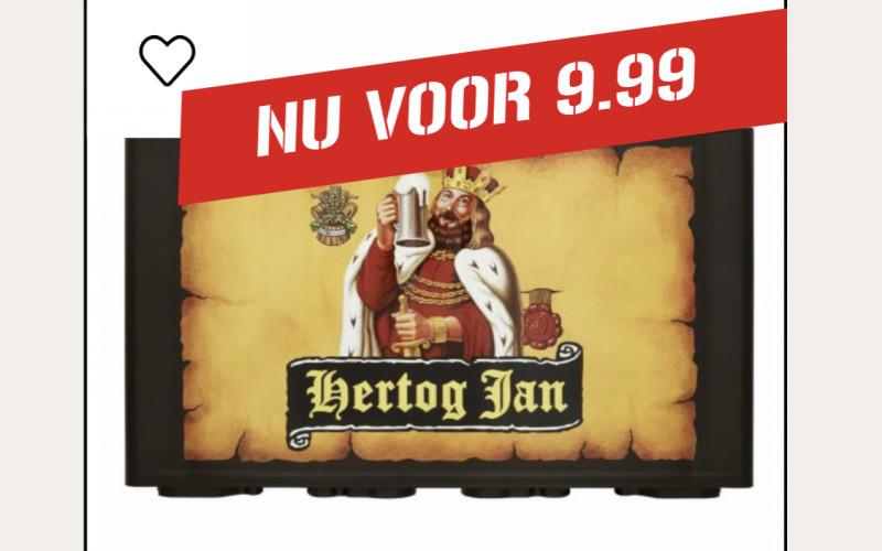 Krat Hertog-Jan: €9,99 (i.p.v. €16,89) mét Gratis Bezorging