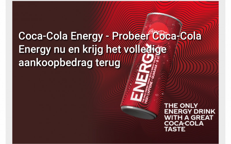 Gratis Coca Cola Energy