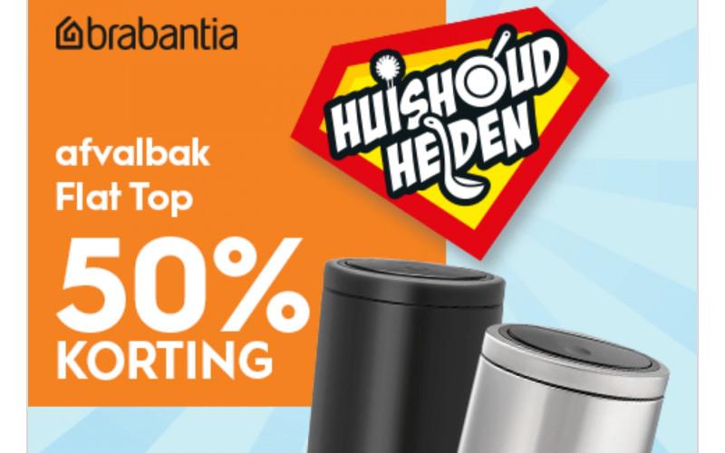 50% korting op de Brabantia afvalbal Flat top