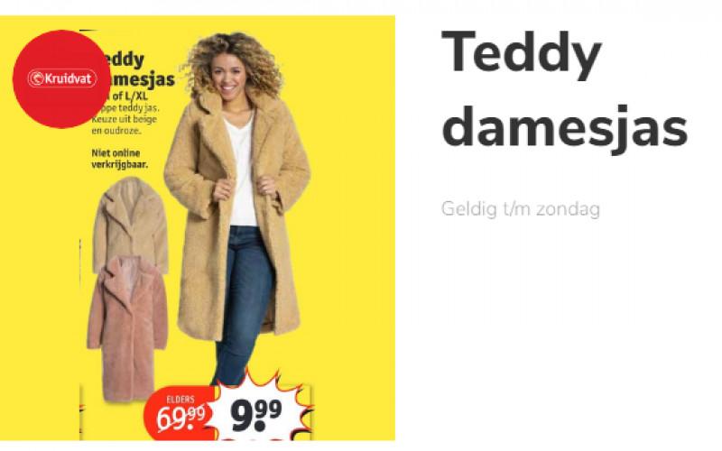 Teddy winterjas dames 9,99 kruidvat alleen in de winkel