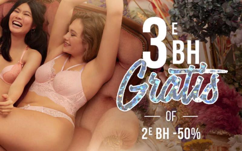 3e BH gratis of 2e BH -50% + gratis verzenden & retour
